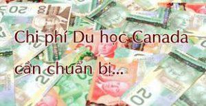 Các chi phí du học Canada